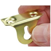 Picture Plate Right Angled Inverted Slotted Hanger - Brass Plated